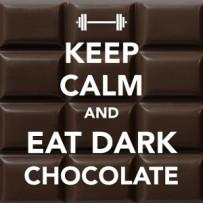 keep calm eat dk choc
