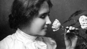 Helen keller with rose