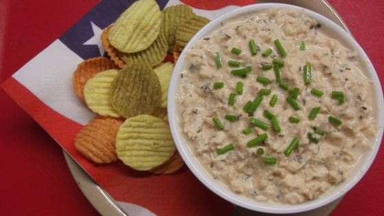Seafood dip made with salmon and plain yogurt